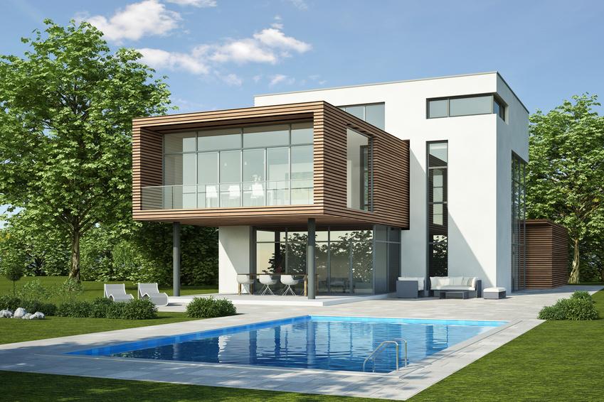 Moderne Villa 3 weiss holz